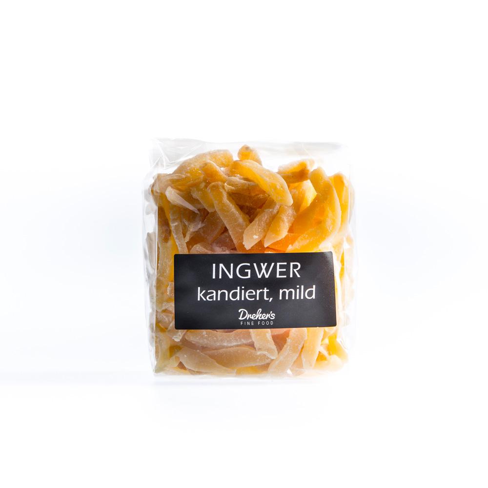 Ingwer kandiert mild - Drehers Fine Food